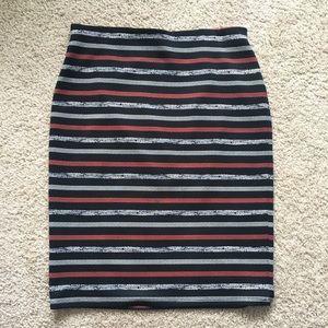Black Striped Pencil Skirt, Roz & Ali, Small